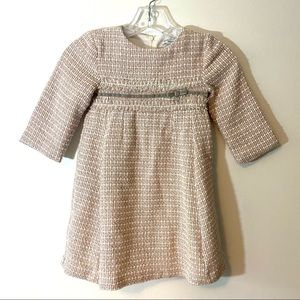 Mayoral tweed pink grey dress size 7